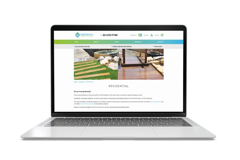 Nepean Landscape Supplies Website